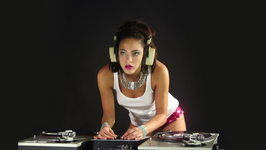 A Sexy Female Dj Dancing Stock Footage Video (100% Royalty