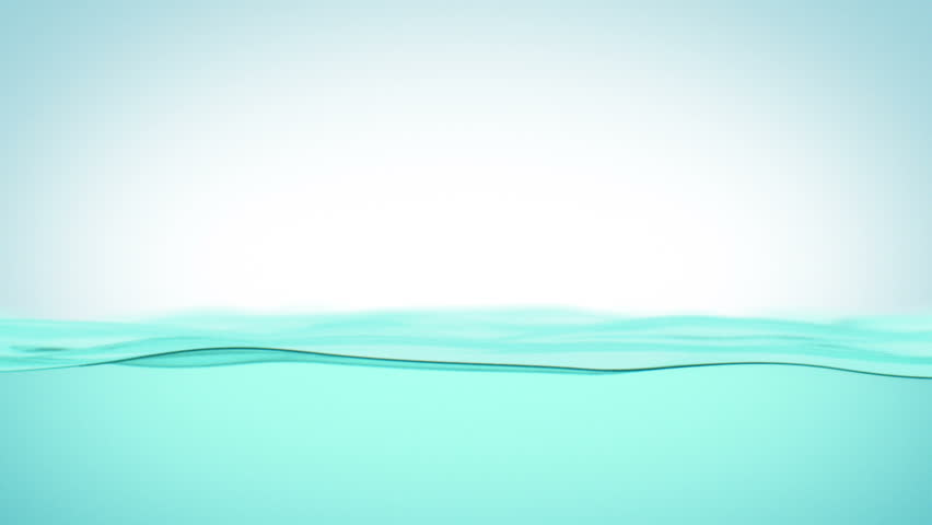 Water Fills the Screen. Beautiful Water Surface Waving in 3d animation. HD 1080.