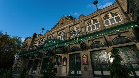 Time lapse of the Royal Hall Theatre in Harrogate, Yorkshire, England in October 2013. 4K version