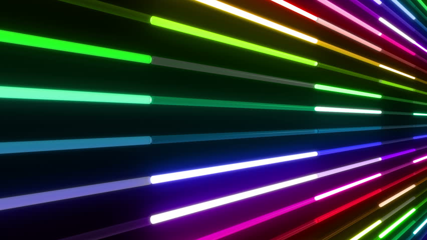 Neon Tube illumination wall abstract background. | Shutterstock HD Video #5437244