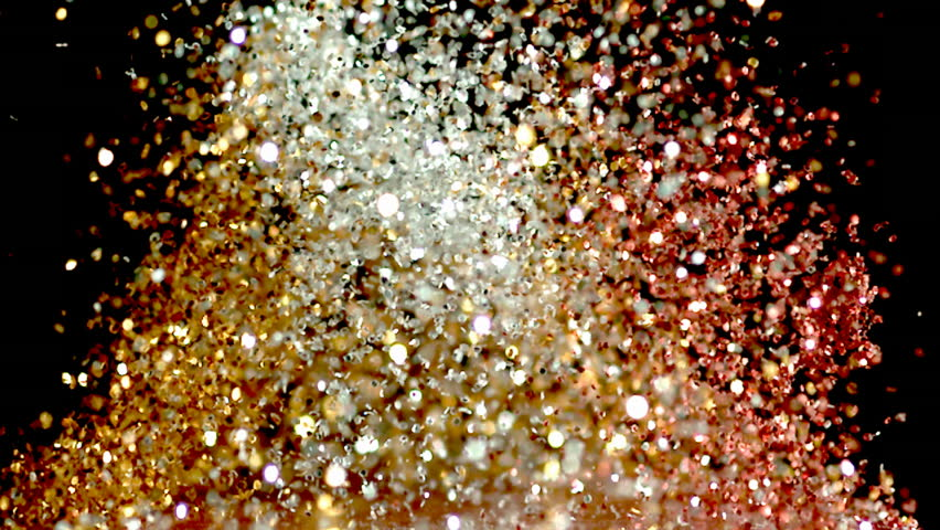 glitter exploding into a rainbow of colors slow motion #5453618