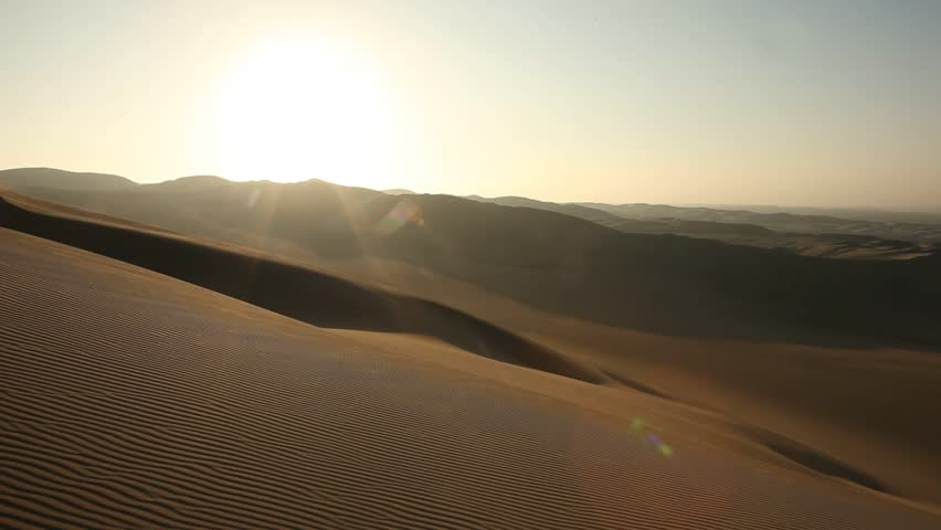 video footage of a desert with dunes in Ica, Peru #5469344
