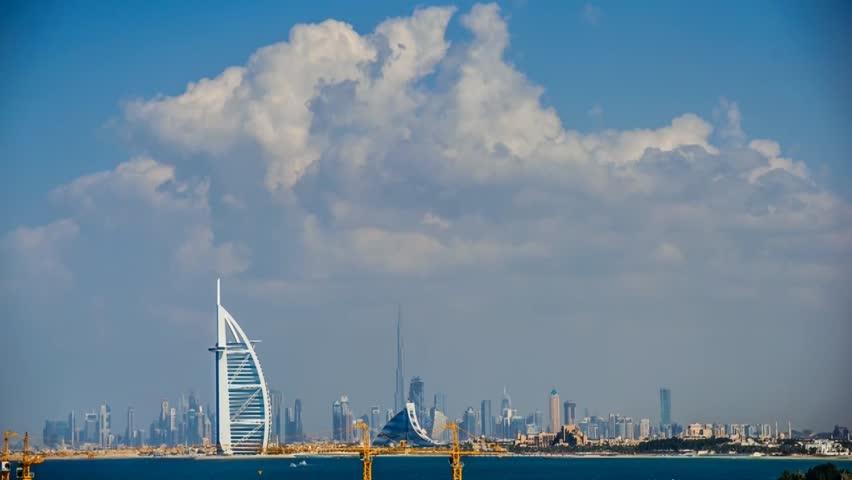 DUBAI, UAE -DECEMBER 24 :The world's first seven stars luxury hotel Burj Al Arab, December 24, 2013 in Dubai, United Arab Emirates