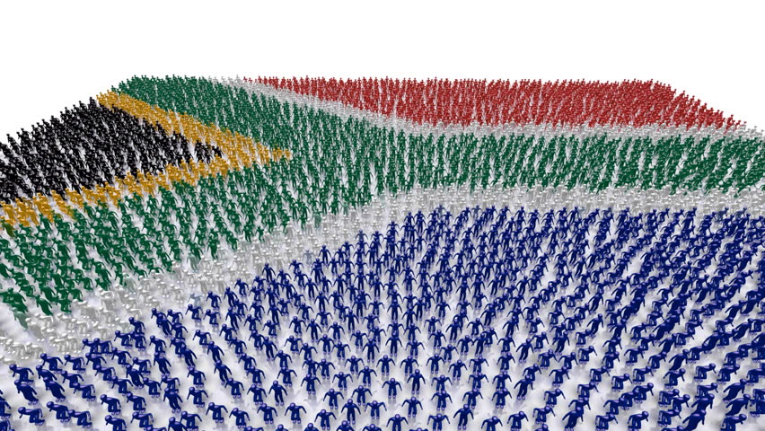 South Africa Flag People