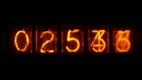 an electronic counting machine using old style nixie tubes
