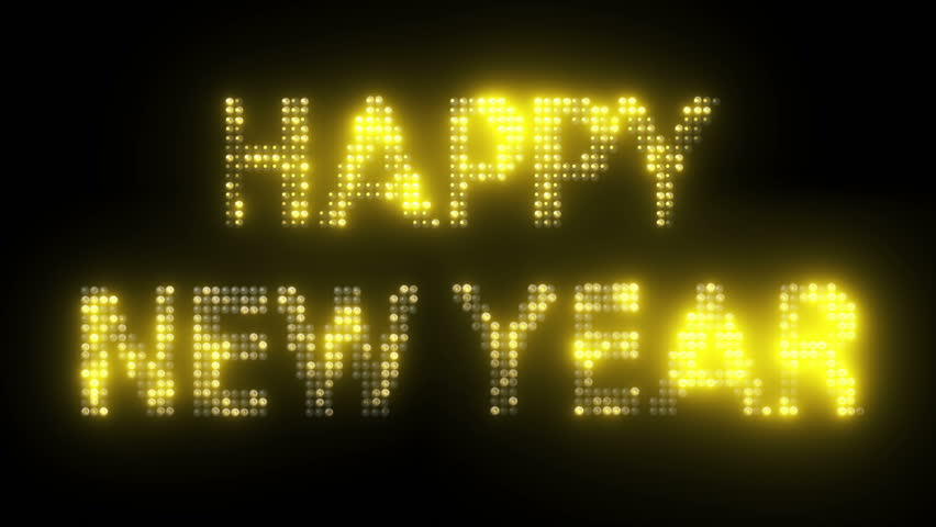 Happy New Year Text with Stock Footage Video (100% Royalty-free) 5504594 |  Shutterstock