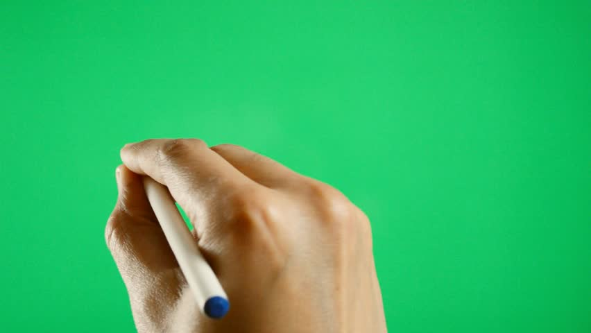 close up of a man filling with chroma key