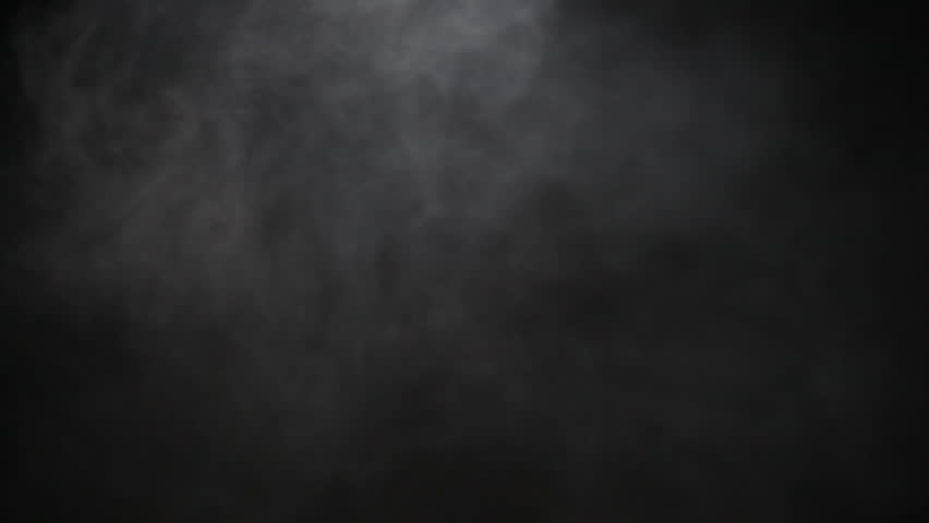 Light Smoke Ambiance Effect Isolated on Black Background