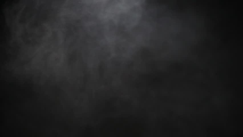 Light Smoke Ambiance Effect Isolated on Black Background