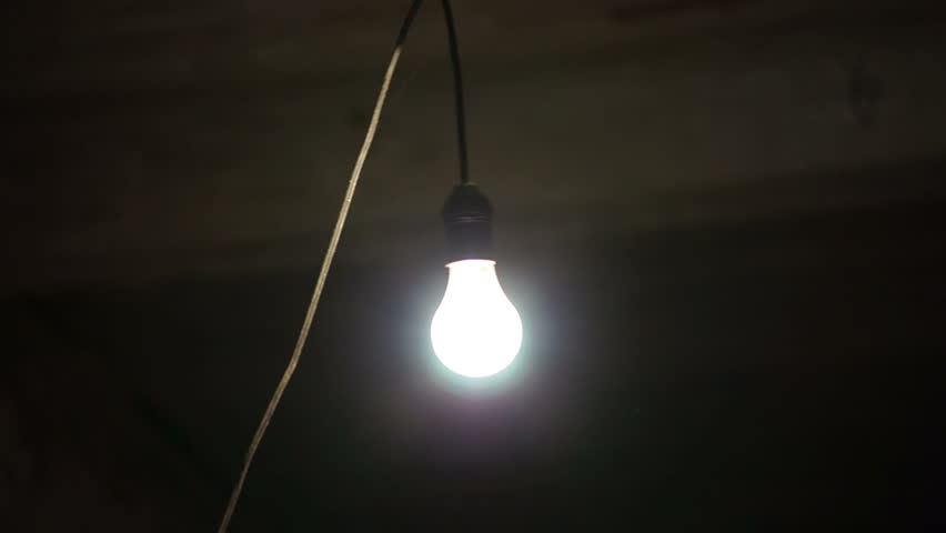 Swinging lightbulb tv