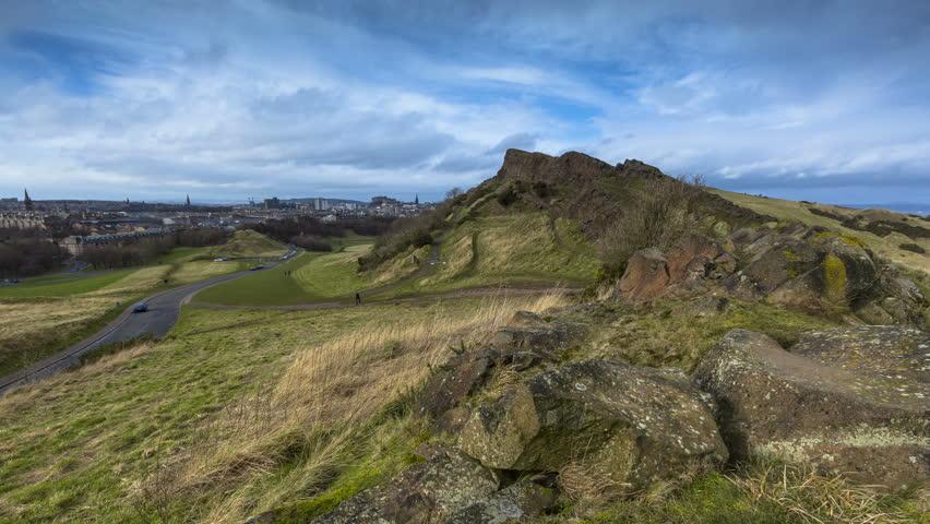 Timelapse of Edinburgh Skyline and Arthur's Seat
