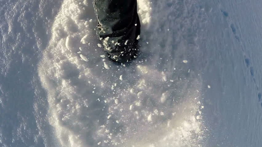 Hiking in the snow. hiker walking. foot feet steeps. snow winter season. slow motion. recreation activity. holiday vacation tourism. people persons. outdoors sports | Shutterstock HD Video #5594654