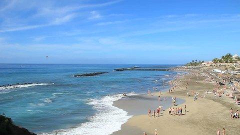 Del Duque beach (Playa del Duque) located in Costa Adeje in South of Tenerife island in  La Caleta (Las Americas). Very beautiful beach.
