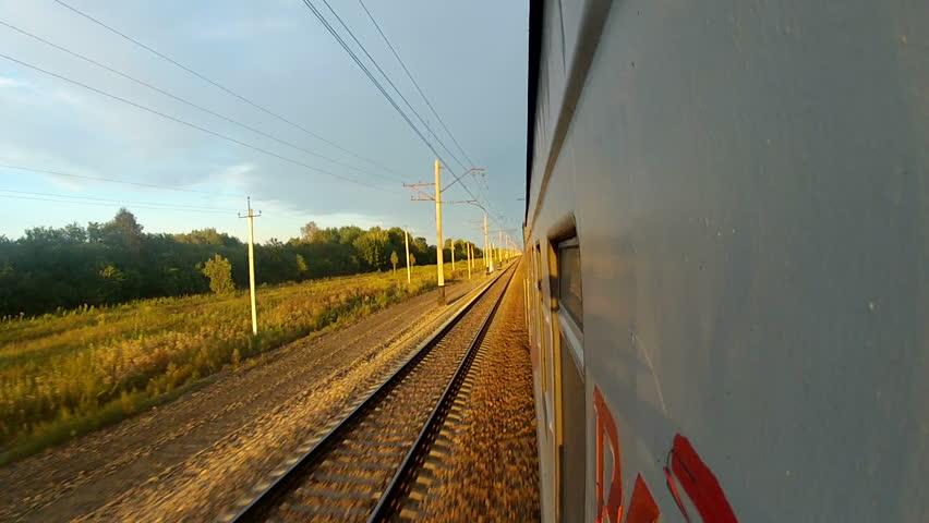 Trans-Siberian Railway speeding train