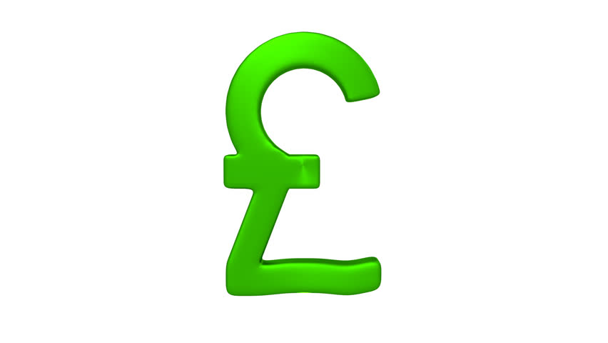 Stock Video Of 3d Animation Of Green Rotating Pound 5642834