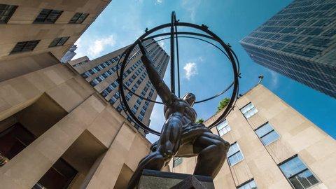NEW YORK - DECEMBER 30: Atlas Statue on December 30, 2012 in New York. Atlas Statue is a bronze statue in front of Rockefeller Center in midtown Manhattan, New York City, NYC, USA.
