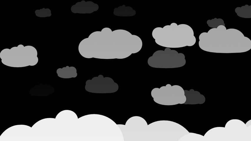 Cartoony Clouds Silhouettes animation