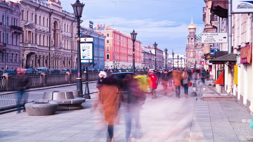 City rush. St. Petersburg. Russia