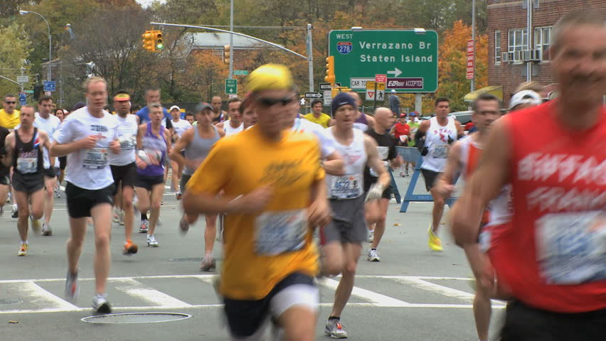 More than 42,000 participants make their way into Brooklyn during the 40th annual New York Marathon.