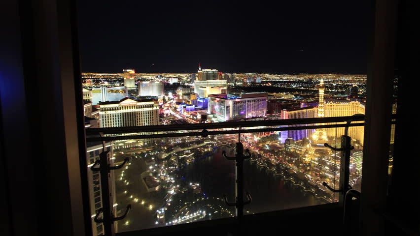 Forward Sliding Time Lapse from Las Vegas High Rise Balcony | Shutterstock HD Video #5740883
