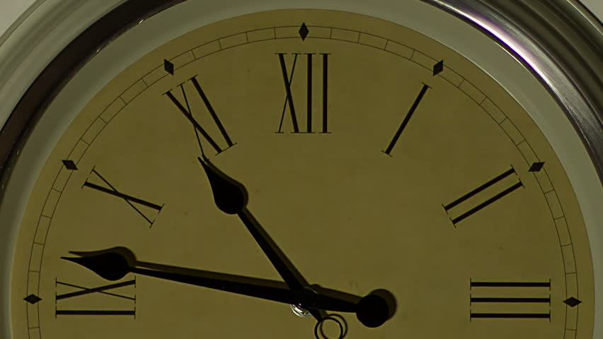 Old wall clock Timelapse. Roman numerals clock | Shutterstock HD Video #5746094