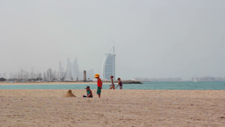 dubai, united arab emirates february 24, 2017: people enjoying