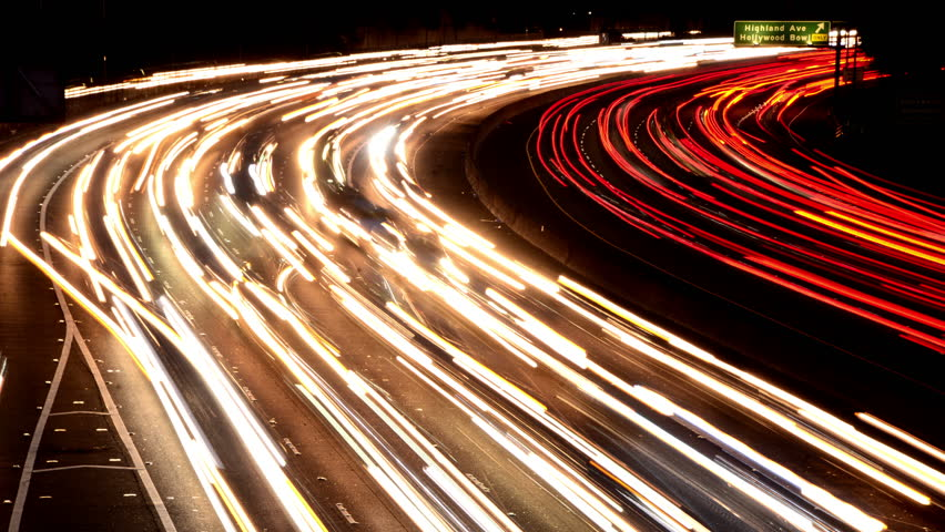 Time Lapse of Busy Freeway Traffic at Night - 4K | Shutterstock HD Video #5780474