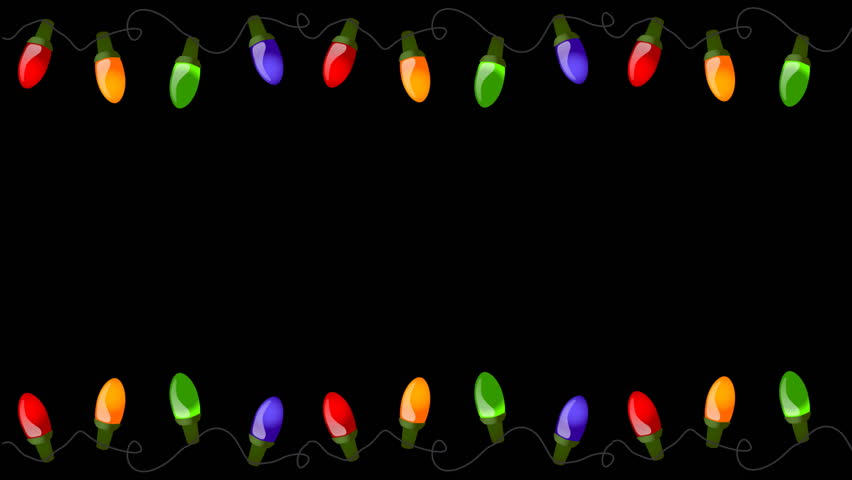 Flashing Christmas Lights On Alpha Stock Footage Video (100% Royalty ...