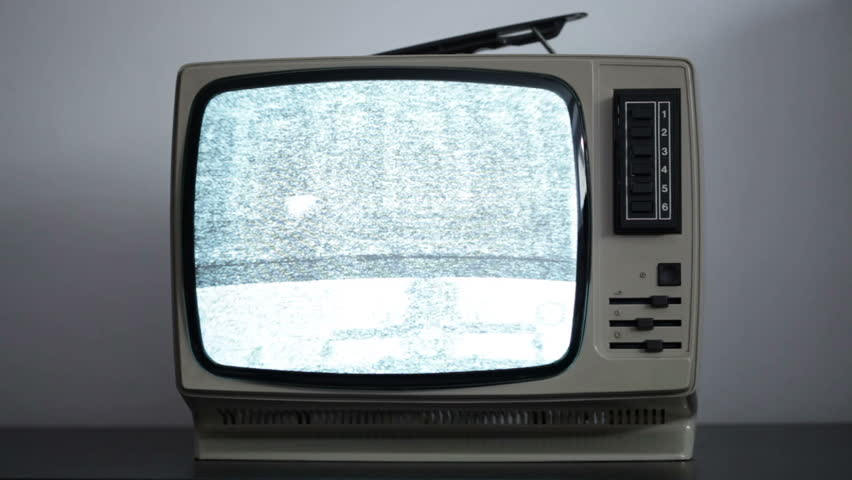 Retro television - old television with static  | Shutterstock HD Video #5806364