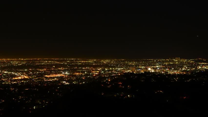 Los Angeles Night View 34 Timelapse Traffic   Shutterstock HD Video #5818274