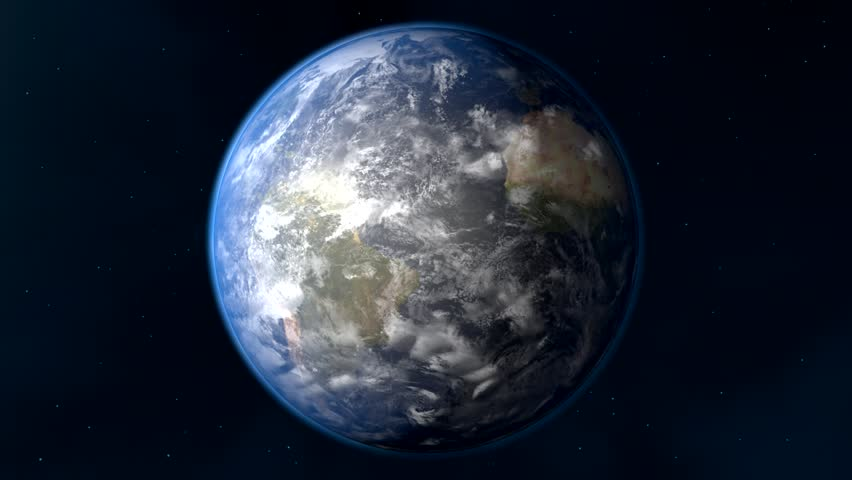 Earth and sun  | Shutterstock HD Video #5820050
