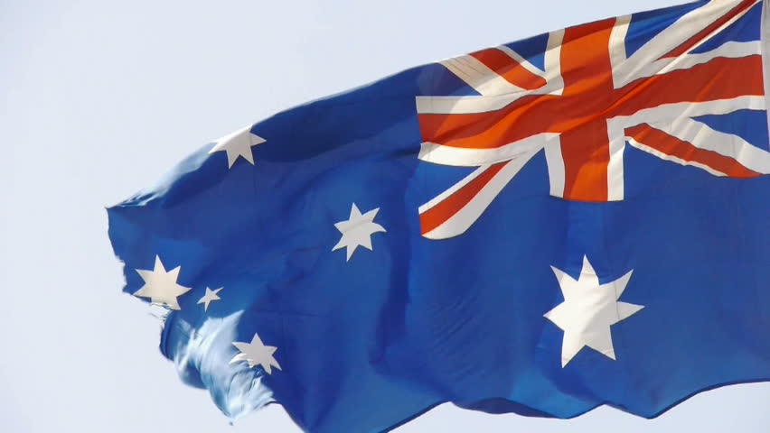 Australian flag flutters in wind. gh2_01320 | Shutterstock HD Video #5861174