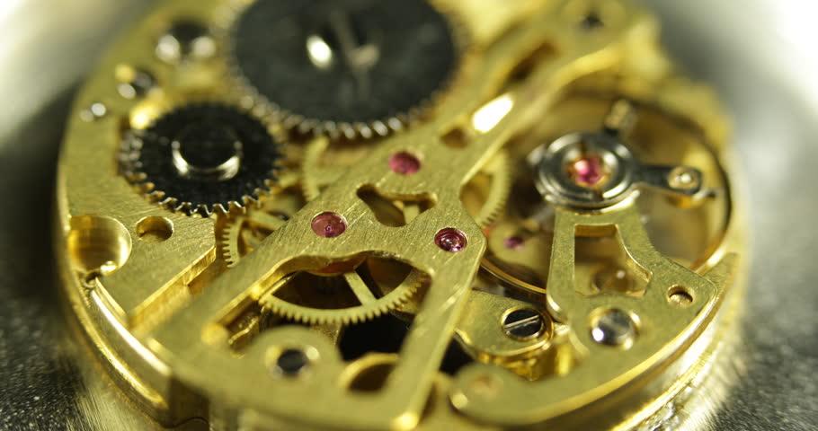Time Keeper Iron Mechanism Perfect Mechanical System, Pocket Watch Clock Teamwork ( Ultra High Definition, Ultra HD, UHD, 4K, 2160P, 4096x2160 )