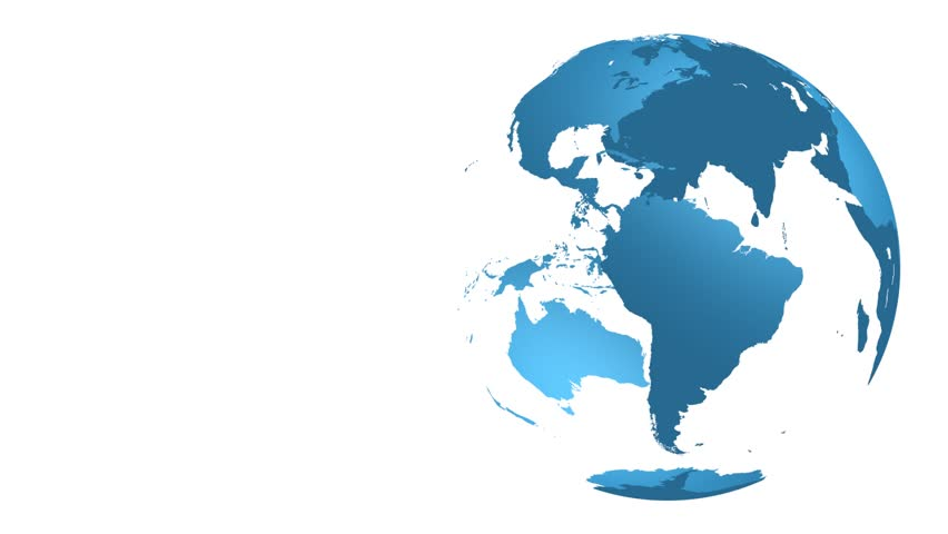 3d illustration 3d rendering blue earth globe world map with earth spinning hd hd stock footage clip gumiabroncs Choice Image