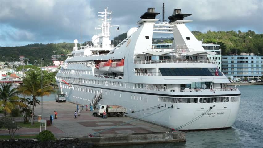 ST THOMAS JAN St Lucia Seabourn Spirit Cruise Ship Port - Cruise ship supplies