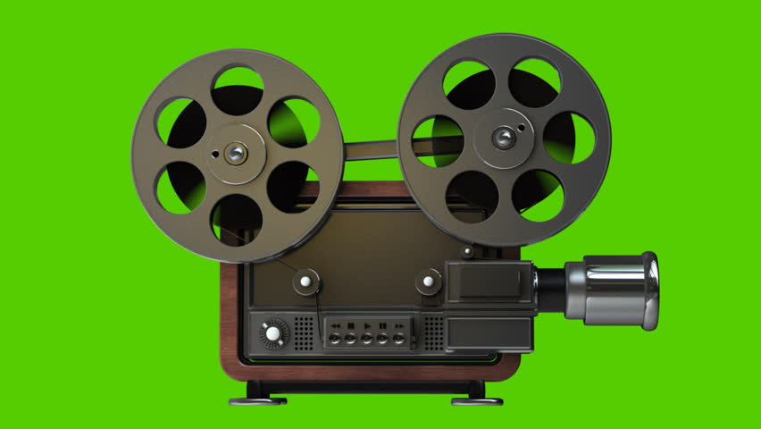 Picture of old fashioned movie projector 29