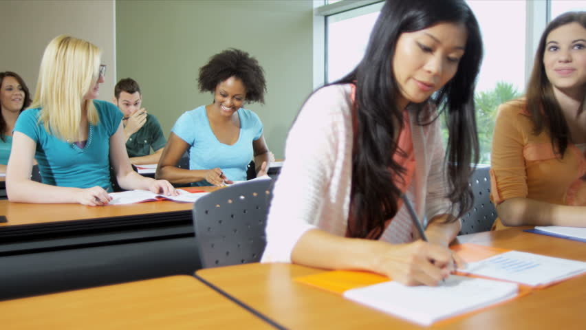 College Classroom Students
