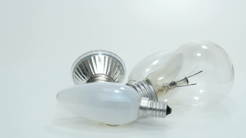 Light bulbs, new LED and old bulbs on a turntable | Shutterstock HD Video #6014444