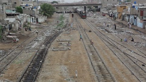 Karachi, Pakistan: Looking Down from Stock Footage Video