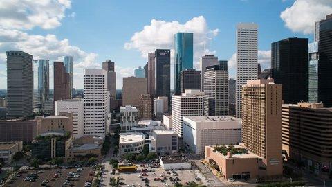 HOUSTON - CIRCA NOVEMBER 2013: Skyline of downtown Houston, Texas, USA