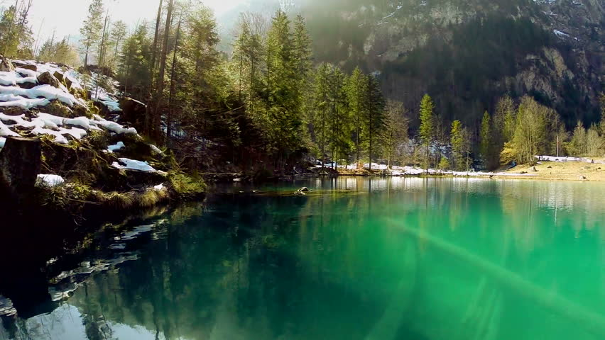 Misty Green Forest Nature River Beautiful 1ziw: Beautiful Nature Forest Trees Scenery. Peaceful Life