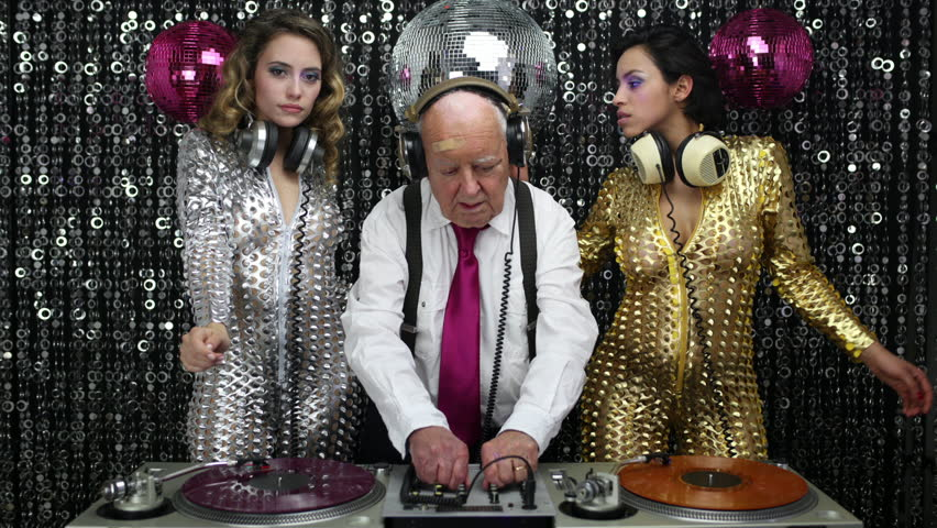 grandpa DJ is back, with his 2 beautiful sexy disco dancers. useful clip for music, lifestyle and fashion