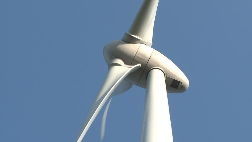 Wind power turbine on blue sky | Shutterstock HD Video #608305