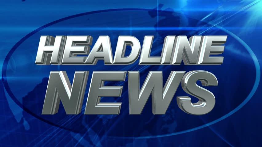 Headline News - News Title Blue Background | Shutterstock HD Video #6137654