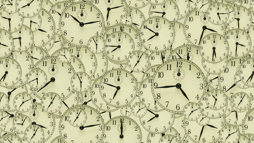 Many clocks with different times 2010 loop | Shutterstock HD Video #615004