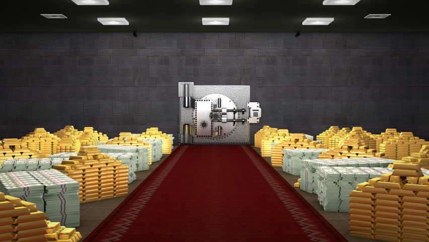 Stock Video Of Bank Vault Full Of Money And 619564