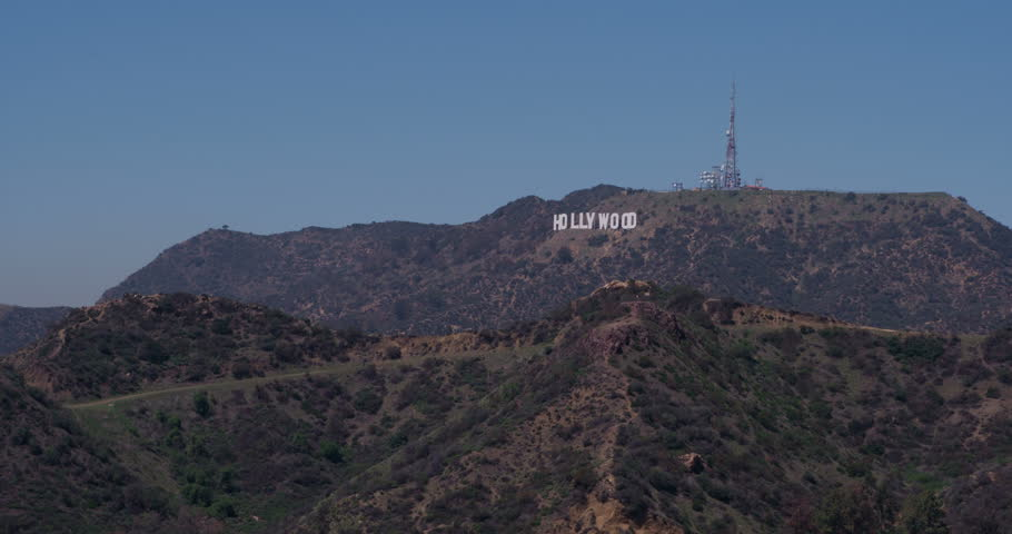 HOLLYWOOD, CA - APRIL 20 : Hollywood sign in mountains shot at 4k resolution on April 20, 2014 in Hollywood, California. | Shutterstock HD Video #6206504