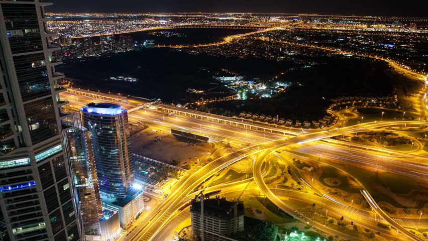 high traffic crossroadstime lapse in dubai #6220454