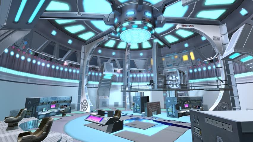 Tech controller & control station,Sci-fi universe Modern space scene. cg_01074