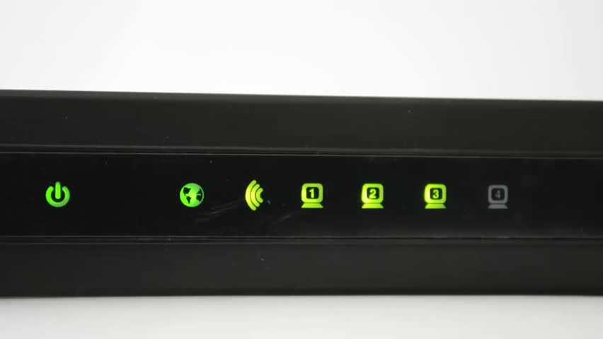 Lights are flashing on the router | Shutterstock HD Video #6241244